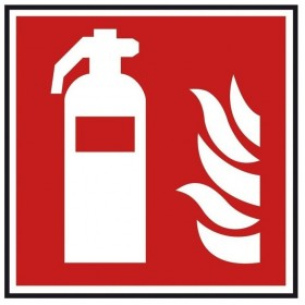 Autocollant incendie extincteur