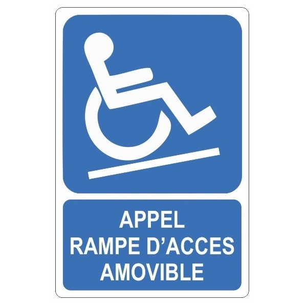 Autocollant appel rampe d'accés amovible