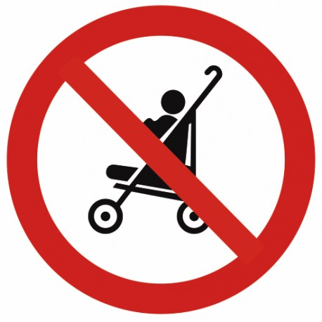 Autocollant interdit aux poussettes