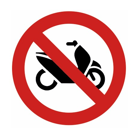 Autocollant interdit aux scooters