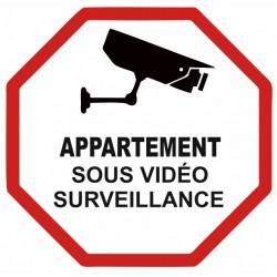 Autocollant appartement sous vidéo surveillance
