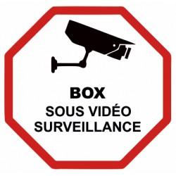 Autocollant Box sous vidéo surveillance