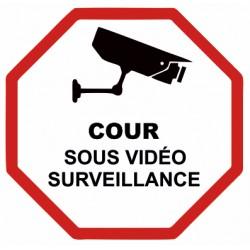 Autocollant Cour sous vidéo surveillance