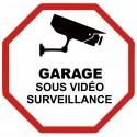 Autocollant Garage sous vidéo surveillance
