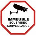 Autocollant immeuble sous vidéo surveillance
