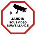 Autocollant jardin sous vidéo surveillance