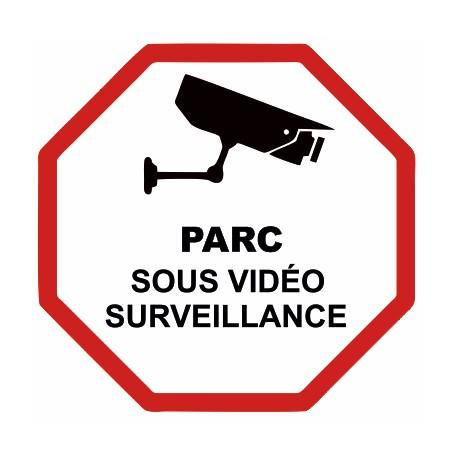Autocollant parc sous vidéo surveillance
