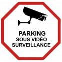 Autocollant parking sous vidéo surveillance