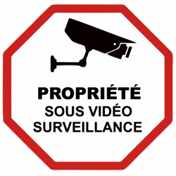 Autocollant propriété sous vidéo surveillance