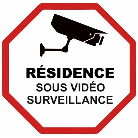 Autocollant résidence sous vidéo surveillance