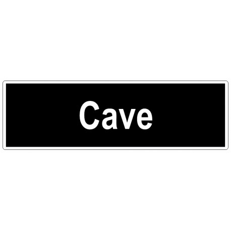 Autocollant cave