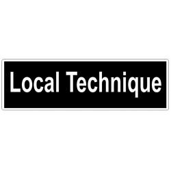 Autocollant Local technique