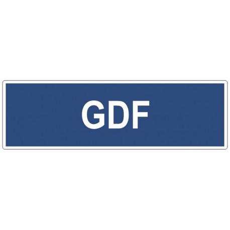 Autocollant GDF compteur gaz