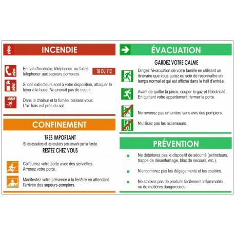 Autocollant plan d'évacuation