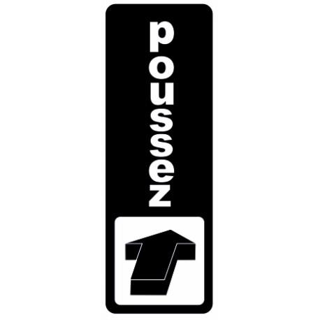 Autocollant Poussez (la porte)