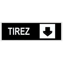 Autocollant Tirez (la porte)