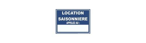 Panneau Location Saisonnière